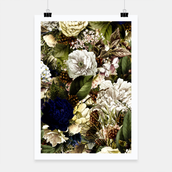 winter flowers seamless pattern 01 big Poster thumbnail image