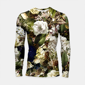 winter flowers seamless pattern 01 big Longsleeve rashguard  thumbnail image