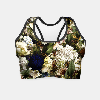 winter flowers seamless pattern 01 big Crop Top thumbnail image