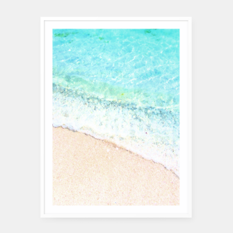 Thumbnail image of Beach vibes  Framed poster, Live Heroes