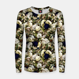 winter flowers seamless pattern 01 small Women sweater thumbnail image