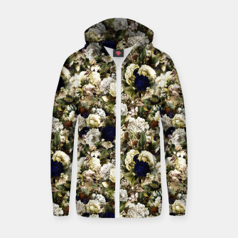 winter flowers seamless pattern 01 small Zip up hoodie thumbnail image