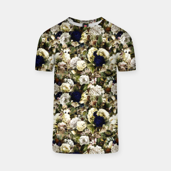 winter flowers seamless pattern 01 small T-shirt thumbnail image