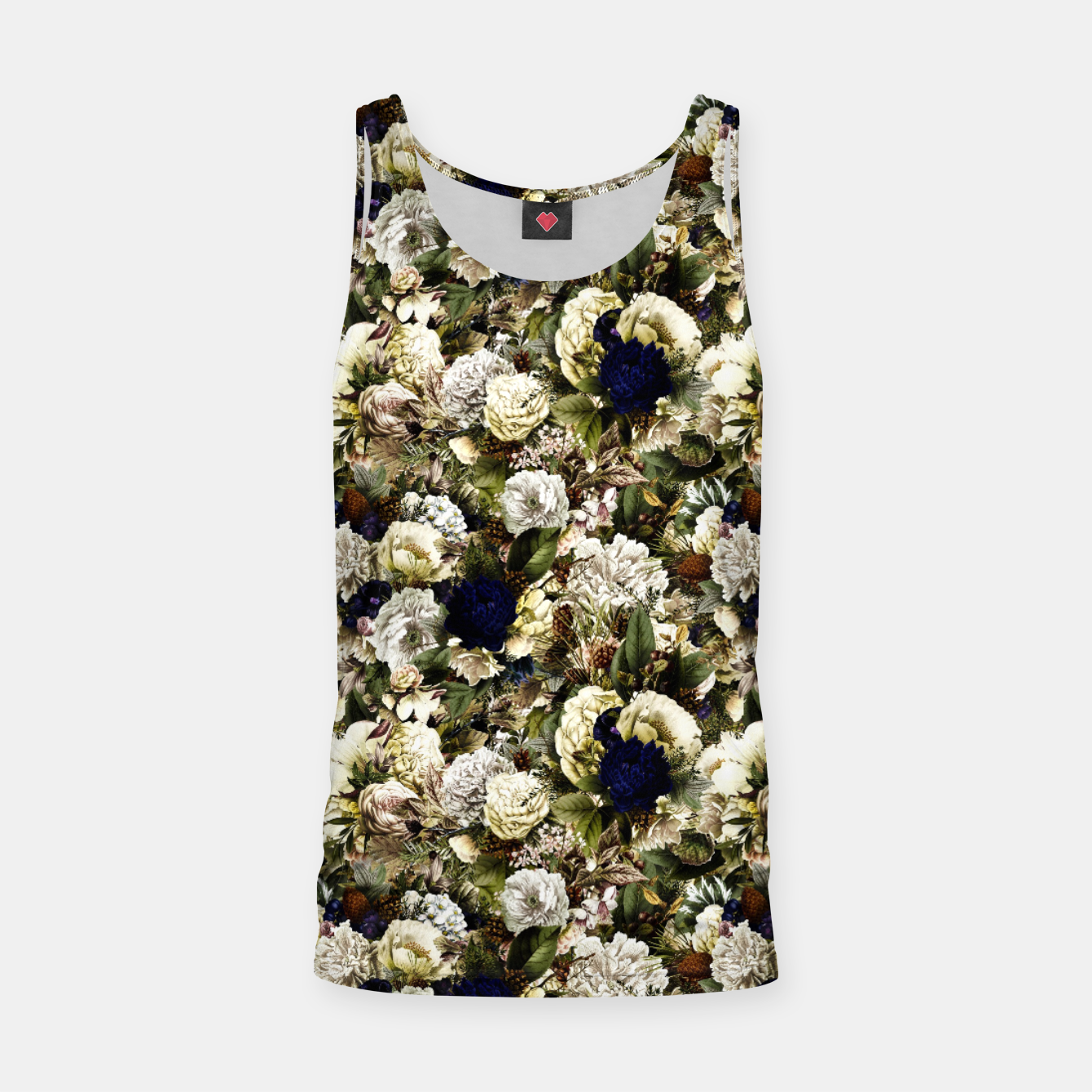 Image of winter flowers seamless pattern 01 small Tank Top - Live Heroes