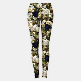 winter flowers seamless pattern 01 small Leggings thumbnail image