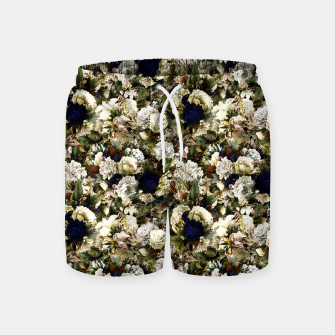 winter flowers seamless pattern 01 small Swim Shorts thumbnail image