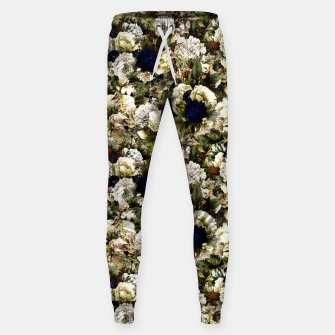 winter flowers seamless pattern 01 small Sweatpants thumbnail image