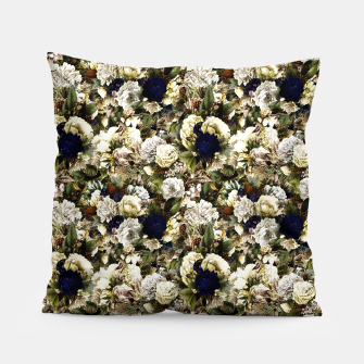 winter flowers seamless pattern 01 small Pillow thumbnail image