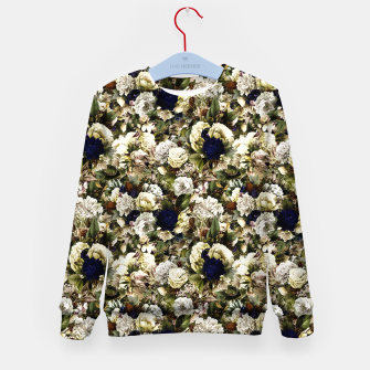 winter flowers seamless pattern 01 small Kid's sweater thumbnail image