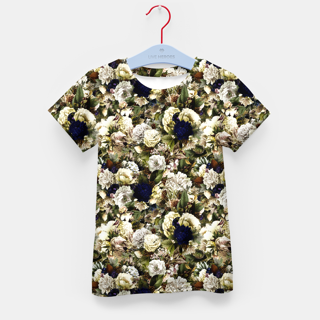 Image of winter flowers seamless pattern 01 small Kid's t-shirt - Live Heroes