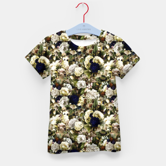 winter flowers seamless pattern 01 small Kid's t-shirt thumbnail image