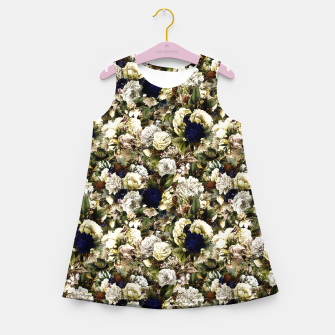 winter flowers seamless pattern 01 small Girl's summer dress thumbnail image