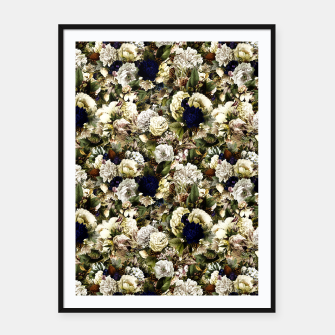 winter flowers seamless pattern 01 small Framed poster thumbnail image