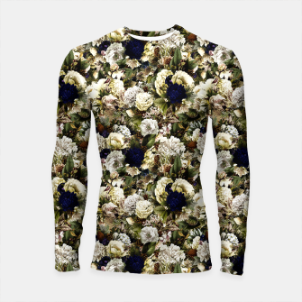 winter flowers seamless pattern 01 small Longsleeve rashguard  thumbnail image
