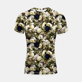 winter flowers seamless pattern 01 small Shortsleeve rashguard thumbnail image