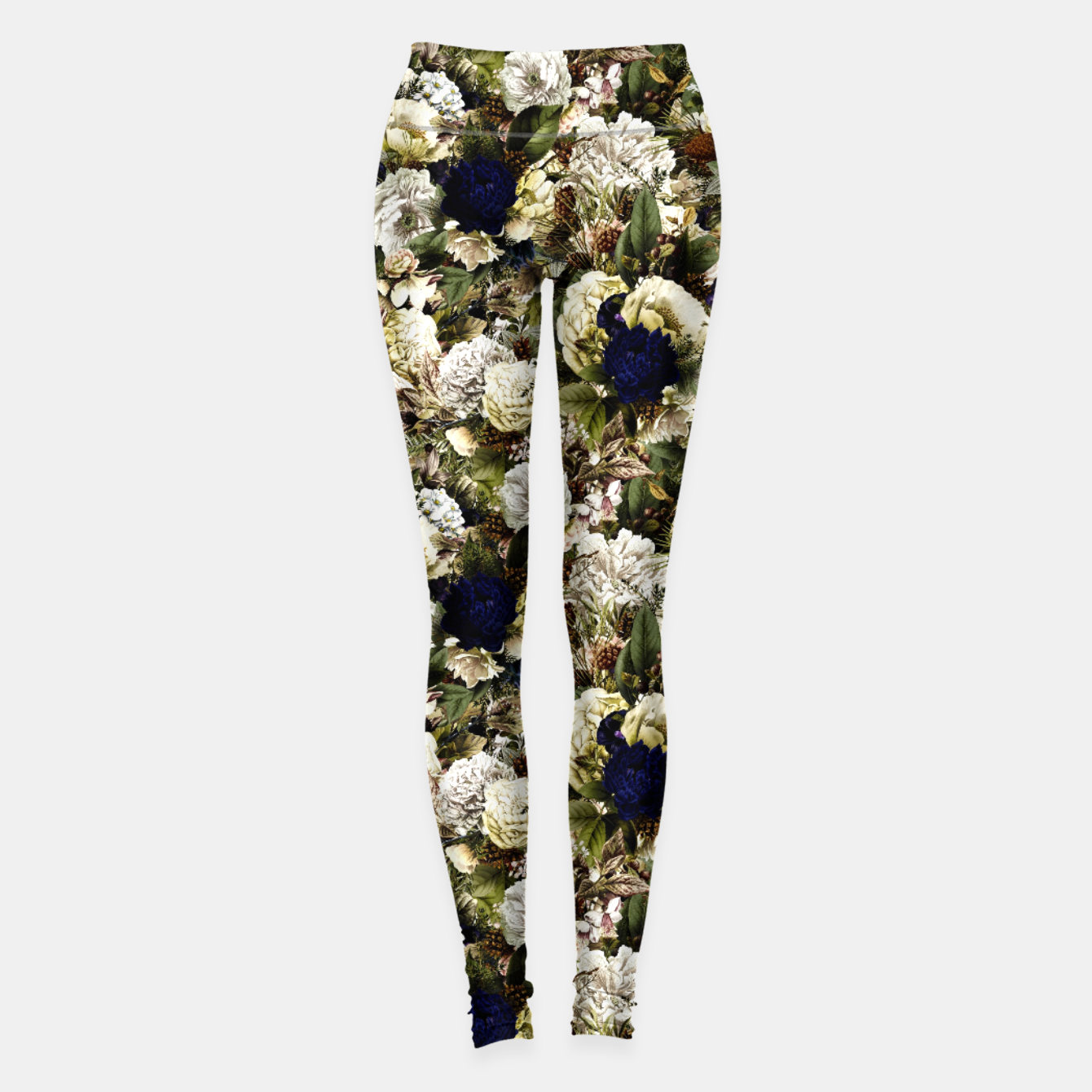 Image of winter flowers seamless pattern 01 small Leggings - Live Heroes