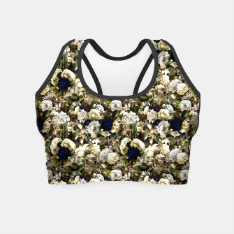 winter flowers seamless pattern 01 small Crop Top thumbnail image