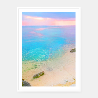 Miniaturka Dreamy sunset beach Framed poster, Live Heroes