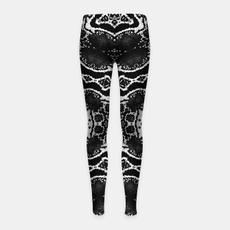Thumbnail image of abstract jewel print Girl's leggings, Live Heroes