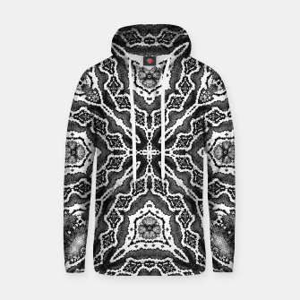 Thumbnail image of abstract jewel print gray Hoodie, Live Heroes