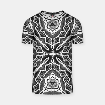 Thumbnail image of abstract jewel print gray T-shirt, Live Heroes