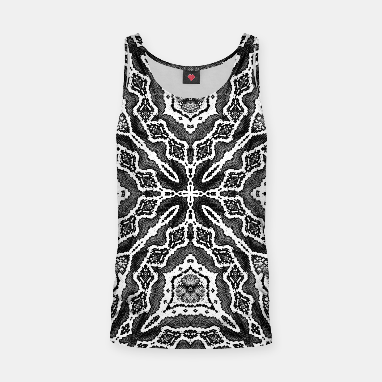 Image of abstract jewel print gray Tank Top - Live Heroes