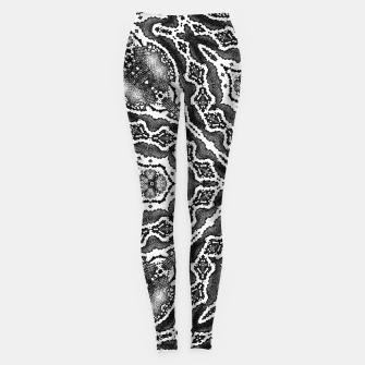 Thumbnail image of abstract jewel print gray Leggings, Live Heroes