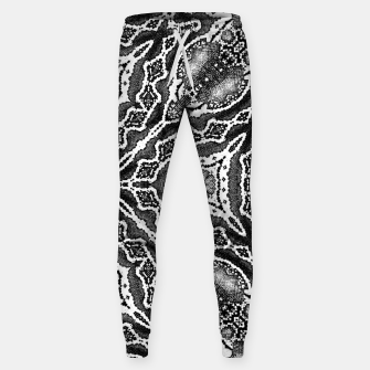 Thumbnail image of abstract jewel print gray Sweatpants, Live Heroes