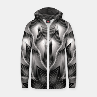 Thumbnail image of CWM7-Pattern Zip up hoodie, Live Heroes