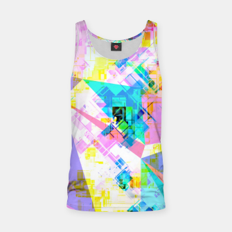 geometric triangle pattern abstract background in pink blue yellow green Tank Top thumbnail image