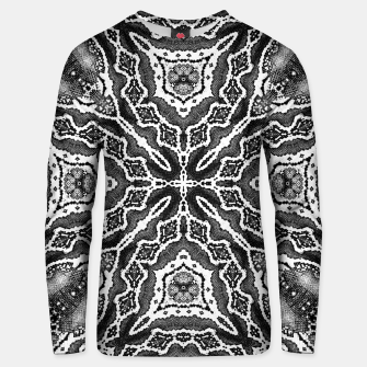Thumbnail image of abstract jewel print gray Unisex sweater, Live Heroes