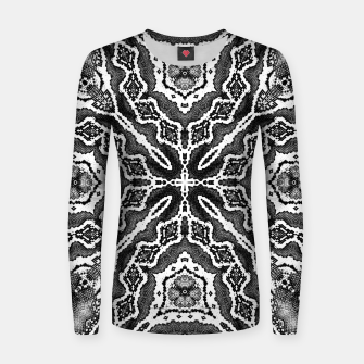 Thumbnail image of abstract jewel print gray Women sweater, Live Heroes