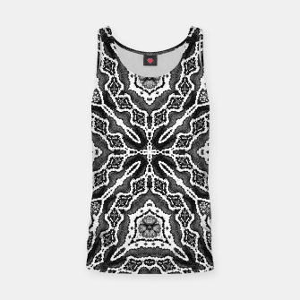 Thumbnail image of abstract jewel print gray Tank Top, Live Heroes