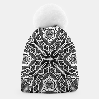 Thumbnail image of abstract jewel print gray Beanie, Live Heroes
