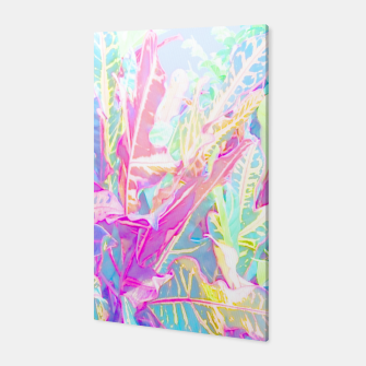 Thumbnail image of Tropical croton leaves 1/2 Canvas, Live Heroes