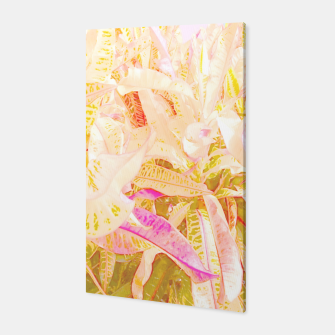 Thumbnail image of Tropical croton leaves 2/2 Canvas, Live Heroes