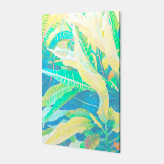 Thumbnail image of tropical croton leaves 3 Canvas, Live Heroes
