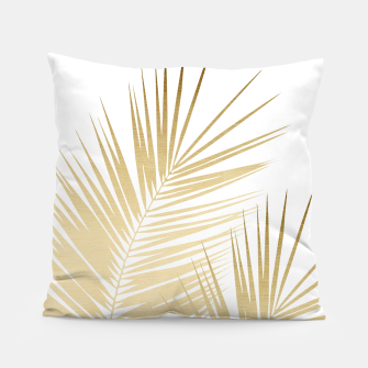 Thumbnail image of Gold Palm Leaves Dream - Cali Summer Vibes #1 #tropical #decor #art Kissen, Live Heroes