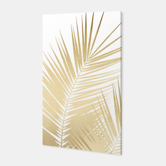 Thumbnail image of Gold Palm Leaves Dream - Cali Summer Vibes #1 #tropical #decor #art Canvas, Live Heroes