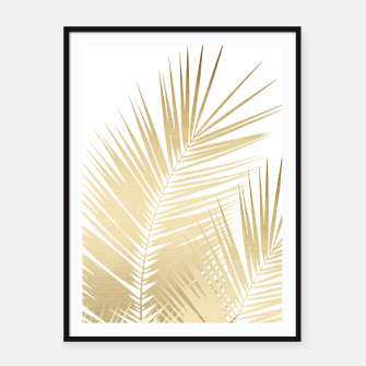 Thumbnail image of Gold Palm Leaves Dream - Cali Summer Vibes #1 #tropical #decor #art Plakat mit rahmen, Live Heroes