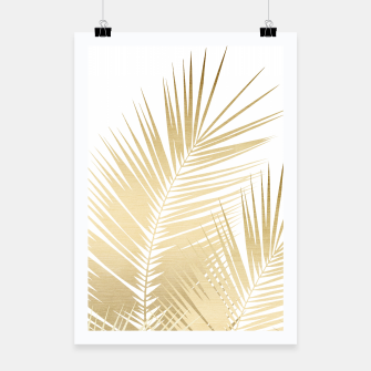 Thumbnail image of Gold Palm Leaves Dream - Cali Summer Vibes #1 #tropical #decor #art Plakat, Live Heroes