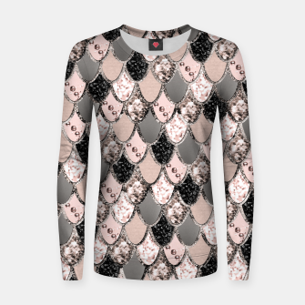 Rose Gold Blush Mermaid Princess Glitter Scales #1 #shiny #decor #art  Frauen sweatshirt thumbnail image