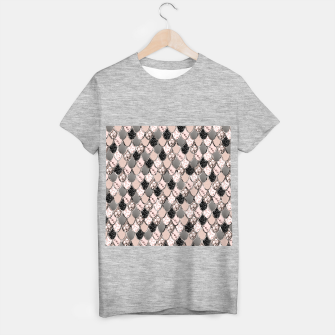 Rose Gold Blush Mermaid Princess Glitter Scales #1 #shiny #decor #art  T-Shirt regulär thumbnail image