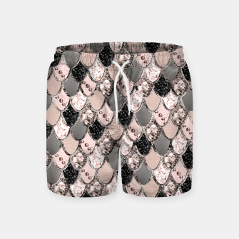 Rose Gold Blush Mermaid Princess Glitter Scales #1 #shiny #decor #art  Badeshorts thumbnail image