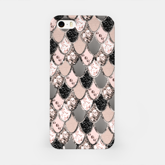 Rose Gold Blush Mermaid Princess Glitter Scales #1 #shiny #decor #art  iPhone-Hülle thumbnail image