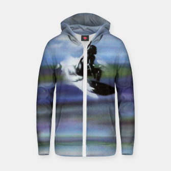 Thumbnail image of Midnight Surf Zip up hoodie, Live Heroes