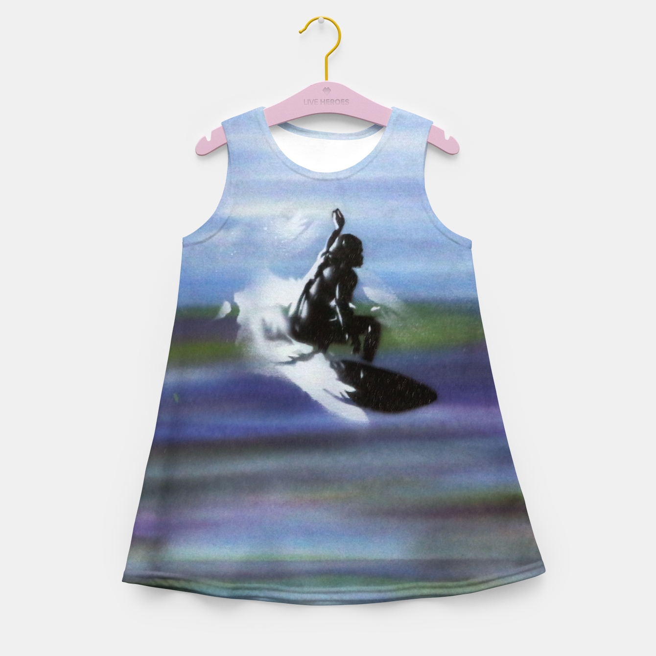Image of Midnight Surf Girl's summer dress - Live Heroes