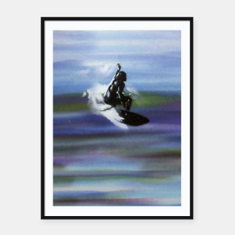 Thumbnail image of Midnight Surf Framed poster, Live Heroes