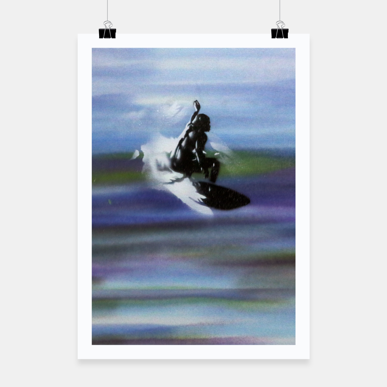 Image of Midnight Surf Poster - Live Heroes