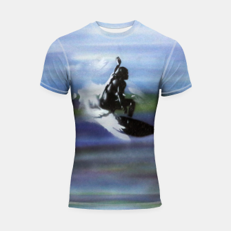 Thumbnail image of Midnight Surf Shortsleeve rashguard, Live Heroes